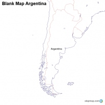 StepMap Maps For Argentina - Argentina map black and white