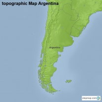 topographic Map Argentina