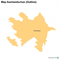 Map Aserbaidschan (Outline)