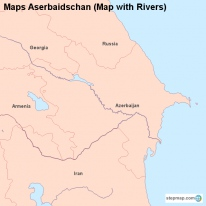 Maps Aserbaidschan (Map with Rivers)