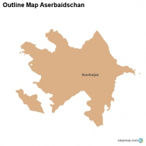 Outline Map Aserbaidschan