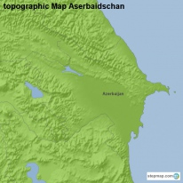 topographic Map Aserbaidschan