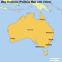 StepMap Maps For Australia - Australia political map