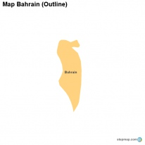 Map Bahrain (Outline)
