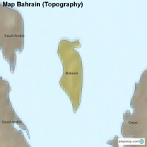 Map Bahrain (Topography)