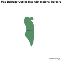 Map Bahrain (Outline-Map with regional borders)