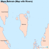 Maps Bahrain (Map with Rivers)