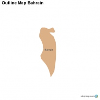 Outline Map Bahrain