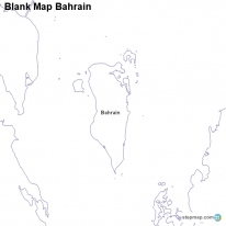 Blank Map Bahrain
