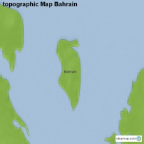 topographic Map Bahrain