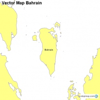Vector Map Bahrain