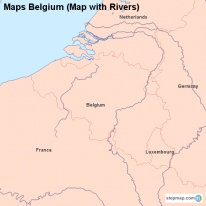 maps belgium map with rivers