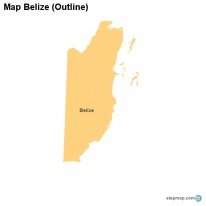 Map Belize (Outline)