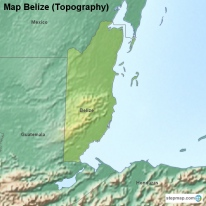 Map Belize (Topography)