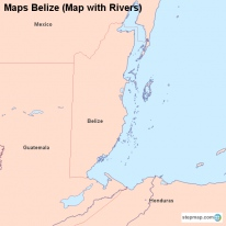 Maps Belize (Map with Rivers)