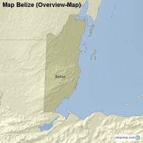 Map Belize (Overview-Map)