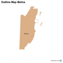 Outline Map Belize