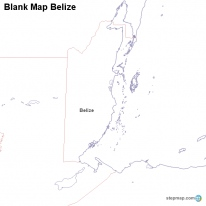 Blank Map Belize