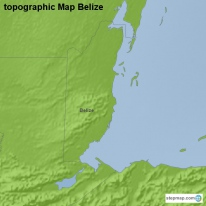 topographic Map Belize