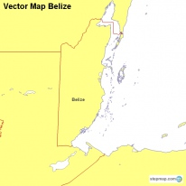 Vector Map Belize