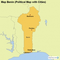 Map Benin (Political Map with Cities)