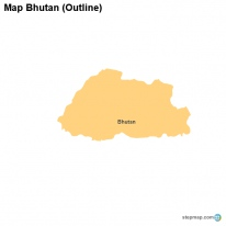 Map Bhutan (Outline)
