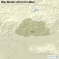 Map Bhutan (Overview-Map)