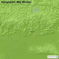 topographic Map Bhutan