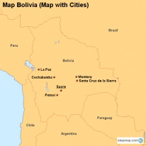Map Bolivia (Map with Cities)