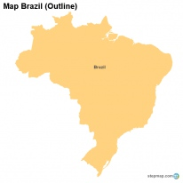 Map Brazil (Outline)