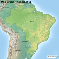Map Brazil (Topography)