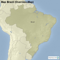 Map Brazil (Overview-Map)