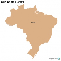 Outline Map Brazil