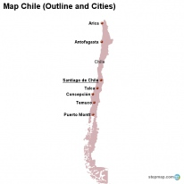 StepMap Maps For Chile - Map of chile with cities