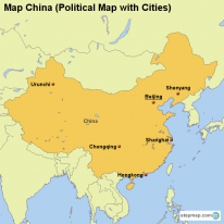 StepMap Maps For China - Cities map of china