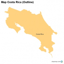 Map Costa Rica (Outline)