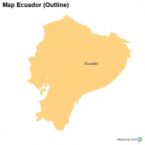 StepMap Maps For Ecuador - Colored outline map of ecuador