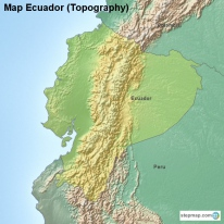 Map Ecuador (Topography)