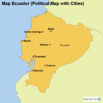 Map Ecuador (Political Map with Cities)