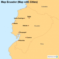 Map Ecuador (Map with Cities)