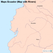 Maps Ecuador (Map with Rivers)