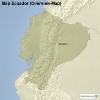Map Ecuador (Overview-Map)