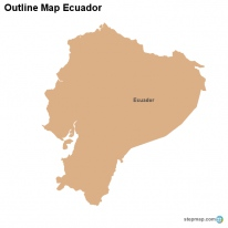 Outline Map Ecuador