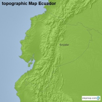 topographic Map Ecuador