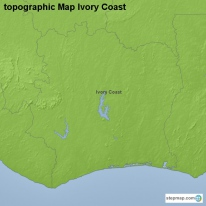 topographic Map Ivory Coast
