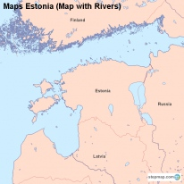 Maps Estonia (Map with Rivers)