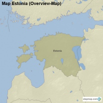 Map Estonia (Overview-Map)