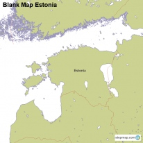Blank Map Estonia