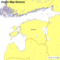 Vector Map Estonia