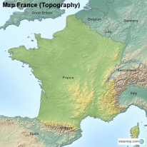 Map France (Topography)